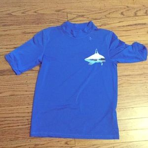 Other - Blue swim shirt with shark size 8-10